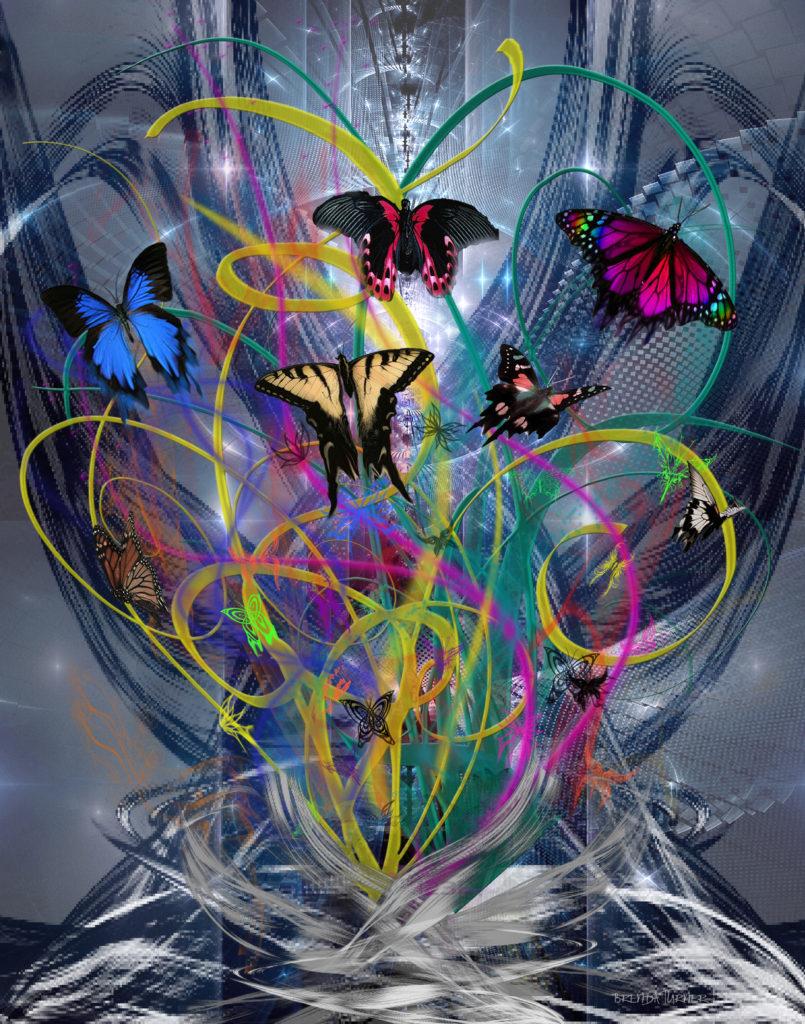 butterflies tied